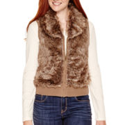 Arizona Zip-Front Faux-Fur Vest