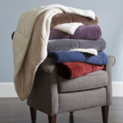 JCPenney Home™ Ultra Mink to Sherpa Throw