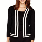 Liz Claiborne® 3/4-Sleeve Framed Sweater Jacket - Petite