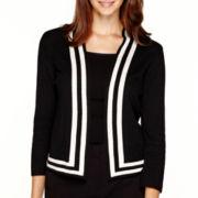 Liz Claiborne® 3/4-Sleeve Framed Sweater Jacket - Petite