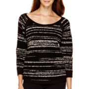 Liz Claiborne® 3/4-Sleeve High-Low Pullover Sweater