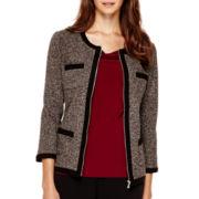 Liz Claiborne® Zip-Front Jacket - Petite