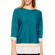 Liz Claiborne® Dolman-Sleeve Layered Top - Tall
