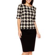 Liz Claiborne® Houndstooth Knit Top or Ponte Pencil Skirt