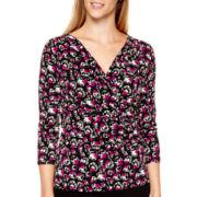 Liz Claiborne® 3/4-Sleeve Knit Top