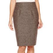 Liz Claiborne® Tweed Pencil Skirt