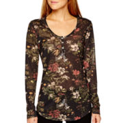 i jeans by Buffalo Long-Sleeve Floral Print Top