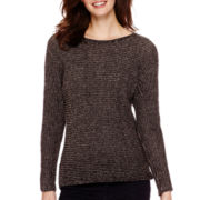 a.n.a® Long-Sleeve Textured Sweater