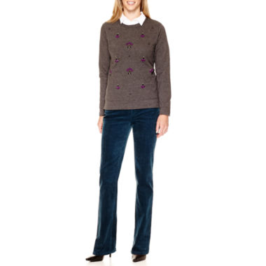 jcpenney.com | St. John's Bay® Embellished Sweatshirt, Campshirt or Corduroy Pants
