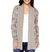St. John's Bay® Long-Sleeve Aztec Cardigan