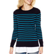 Stylus™ Long-Sleeve Layered Sweater