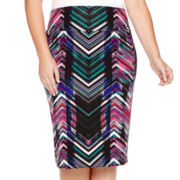 Bisou Bisou® Banded Pencil Skirt - Plus