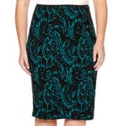 Bisou Bisou® Jacquard Pencil Skirt - Plus