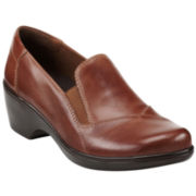 Clarks® May Ivy Leather Slip Ons