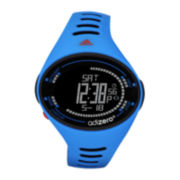 adidas® adiZero High Performance Mens Blue Digital Chronograph Sport Watch