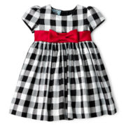 Marmellata Sparkle Plaid Dress - Girls 3-24m