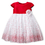 Marmelatta® Lacquer Dot Ballerina Dress - Girls 3-24m