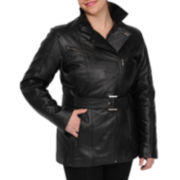 Excelled Leather Belted Jacket