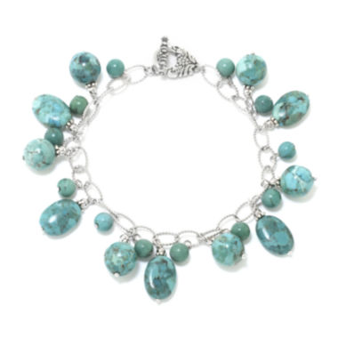 jcpenney.com | Enhanced Turquoise Stone Sterling Silver Bracelet
