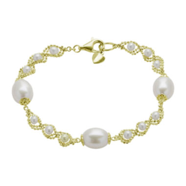 jcpenney.com | Cultured Freshwater Pearl & Brilliance Bead Bracelet