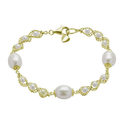 Cultured Freshwater Pearl & Brilliance Bead Bracelet