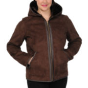Excelled Leather Faux-Shearling Jacket