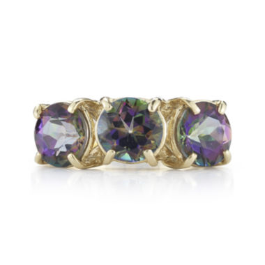 jcpenney.com | Mystic Fire Topaz 10K Yellow Gold 3-Stone Ring
