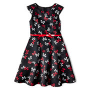 Disorderly Kids® Bow Print Dress - Girls 7-16