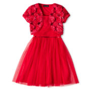 Disorderly Kids® 2-pc. Soutache Shrug Dress - Girls 7-16