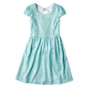 Speechless® Blue Lace Bow Back Dress - Girls 7-16