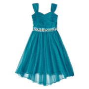 Speechless® Ice Blue Bow Back Dress - Girls 7-16
