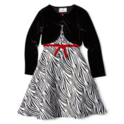 Rare Editions® 2-pc. Dress and Cardigan - Girls 7-16