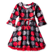 Rare Editions® Rare Fuzzy Knit Dress - Girls 7-16