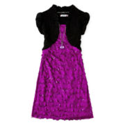 Speechless® Black/Berry Eyelash Dress - Girls 7-16
