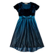 Speechless® Bow Front Velvet Dress - Girls 7-16
