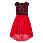 Speechless® Red and Black Lace Dress - Girls 7-16