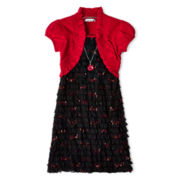Speechless® Black and Red Eyelash Dress - Girls 7-16