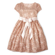 Princess Faith Allover Sequin Dress - Girls 7-12