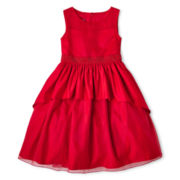 Princess Faith 2-Tier Illusion Dress - Girls 7-12