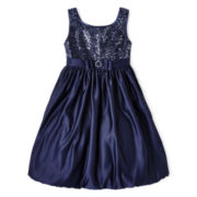 Princess Faith Sequin Top Dress - Girls 7-12