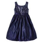 Princess Faith Sequin Top Dress - Girls 7-12