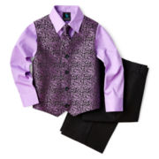 Steve Harvey® 4-pc. Tie, Shirt, Vest and Pants Set – Boys 6-18