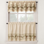 Bordeaux Rod-Pocket Kitchen Window Treatments