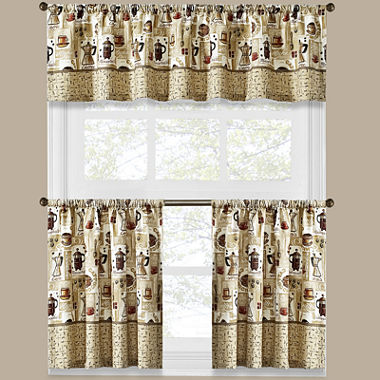 Curtains Ideas coffee curtains for kitchen : Coffee Shoppe Kitchen Curtains