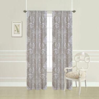 jcpenney.com | Laura Ashley® Josette Damask 2-Pack Rod-Pocket Curtain Panels