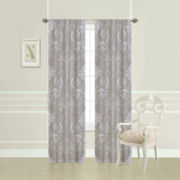 Laura Ashley® Josette Damask Rod-Pocket Curtain Panel Pair
