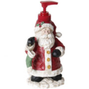 Woodcut Santa Soap Dispenser