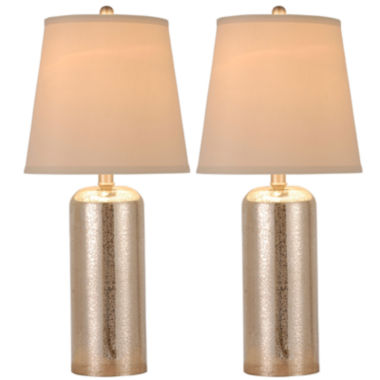 jcpenney.com | JCPenney Home™ Set of 2 Mercury Glass Table Lamps