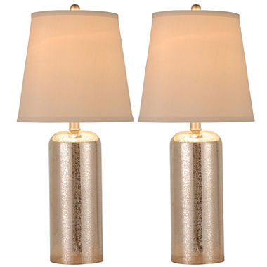 JCPenney Home Set Of 2 Mercury Glass Table Lamps