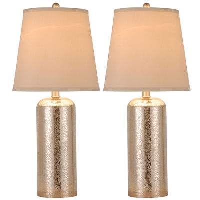 jcpenney home set of 2 mercury glass table lamps - Mercury Glass Lamps